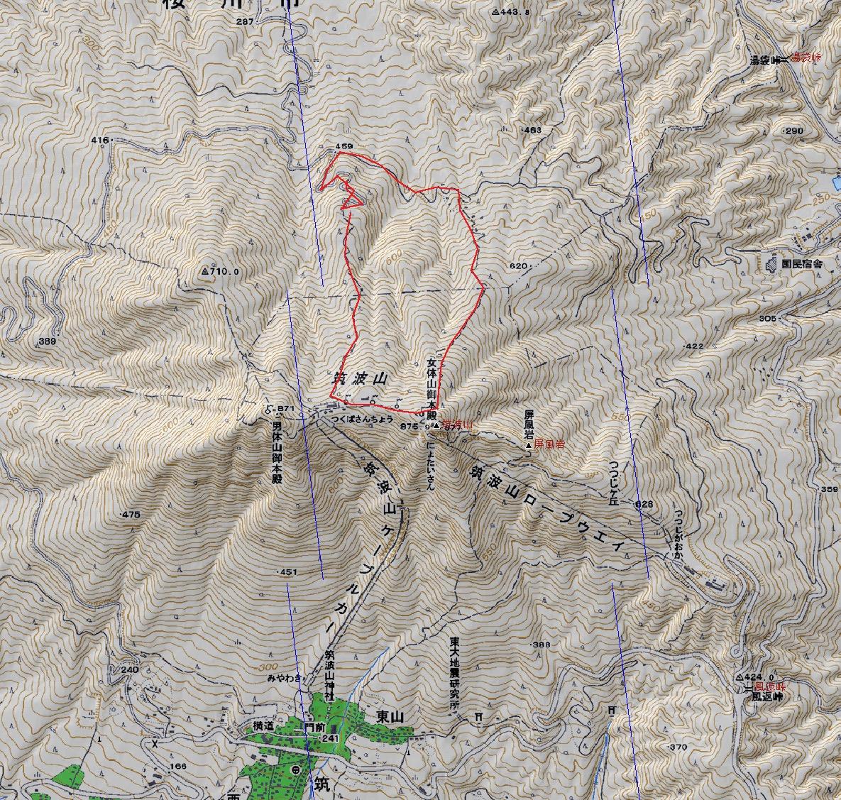 筑波山地図