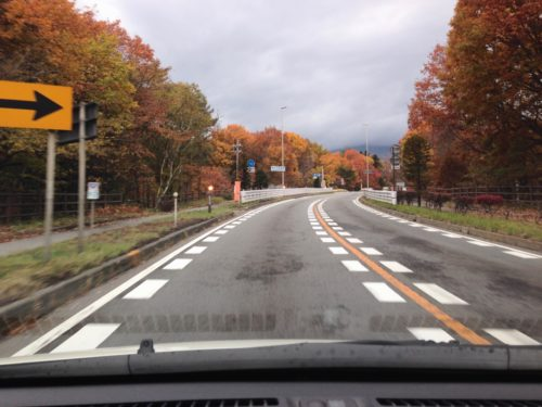 軽井沢の道